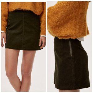 ARITZIA WILFRED FREE Black Corduroy Mini Skirt